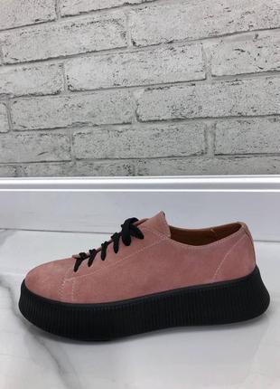 36-41 рр кеди, кросівки на платформі натуральна замша / шкіра