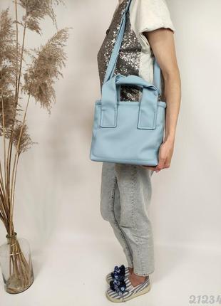 М'яка блакитна сумочка жіноча, женская сумка мягкая голубая