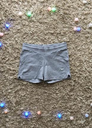 Серые хлопковые шорты nike оригинал