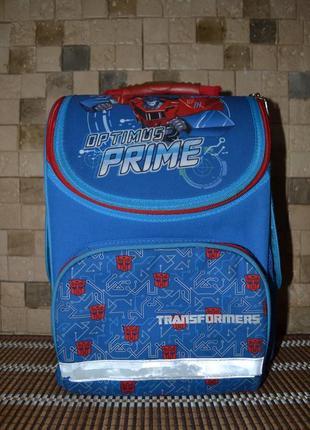 Рюкзак школьный для мальчика ортопедический каркасный kite transforme + пенал