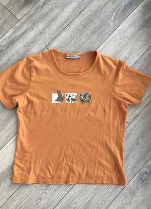 Футболка оранжевая tom tailor