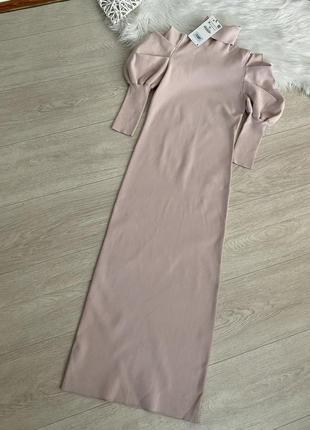 Платье миди по фигуре от zara