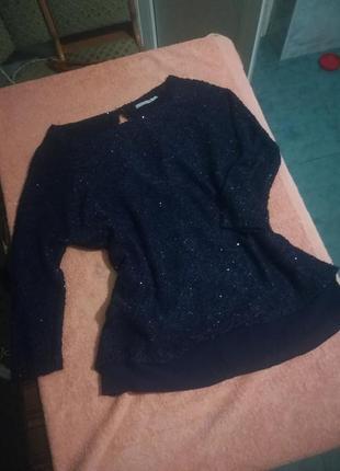 Блестящий мерцающий свитер с пайетками
