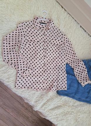 Блузка / рубашка в горошек