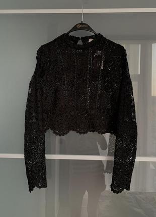 Новая ажурная укороченная блуза кофта asos