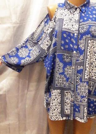 Торг! красивая блуза с вырезанными плечами, можно как оверсайз