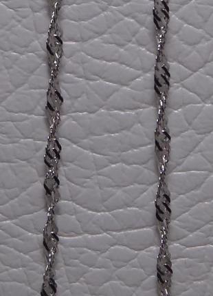 Новая родированная серебряная цепь 45см
