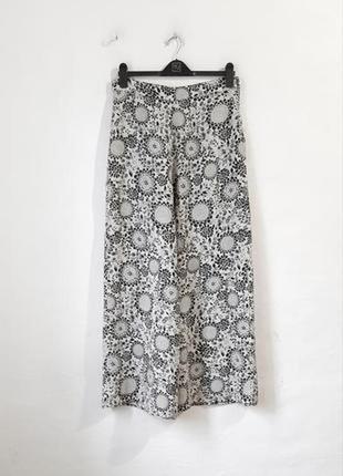 Легкие вискозные брюки палаццо