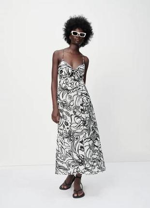 Довга сукня з принтом, zara! оригінал, з португалії!