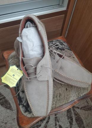 Шикарные мужские замшевые туфли-мокасины на шнурках