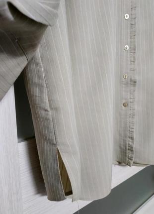 Блуза рубашка большой размер серо-бежевая вискоза essence3 фото