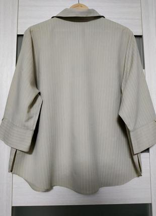 Блуза рубашка большой размер серо-бежевая вискоза essence5 фото