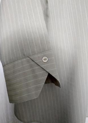 Блуза рубашка большой размер серо-бежевая вискоза essence4 фото