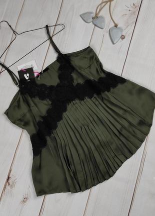 Блуза топ майка новая цвета хаки uk 20/48/3xl