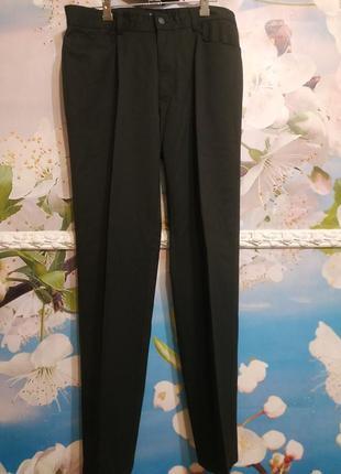 Брюки джинсовый стиль черные в составе шерсть 34 р