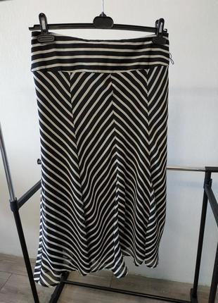 Летняя легкая юбка миди в полоску george