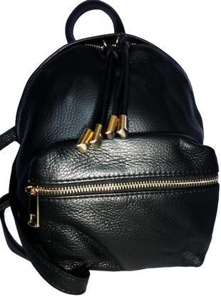 Кожаный рюкзак натуральная кожа prodotto artigianale vera pelle италия