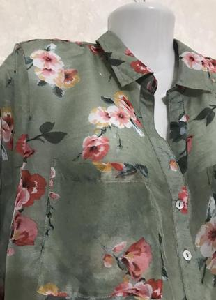 Шикарная тонкая блуза рубашка