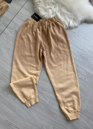 Персиковые джоггеры спортивные штаны