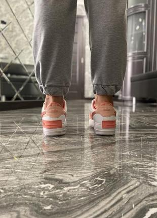 Кроссовки найк женские  обувь кеды форсы nike air force shadow orange7 фото