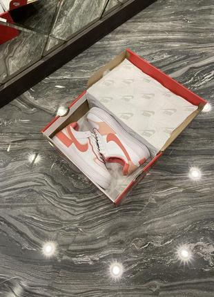 Кроссовки найк женские  обувь кеды форсы nike air force shadow orange3 фото