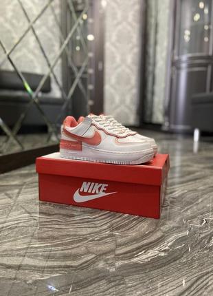 Кроссовки найк женские  обувь кеды форсы nike air force shadow orange9 фото