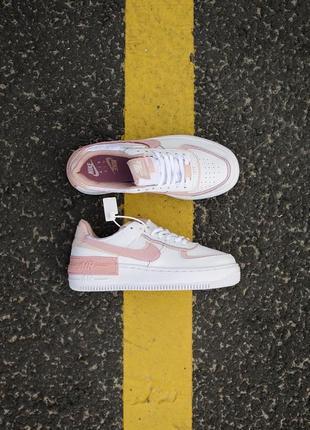 Nike air force shadow white orange кроссовки найк женские форсы аир форс кеды обувь взуття9 фото