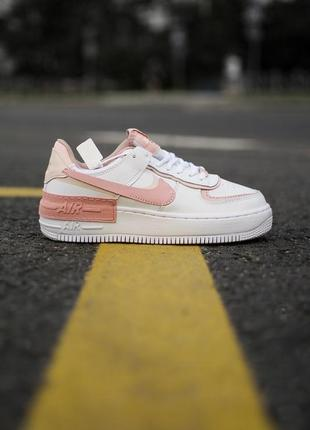 Nike air force shadow white orange кроссовки найк женские форсы аир форс кеды обувь взуття7 фото