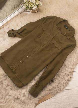Качественная стильная рубашка блуза от new look рр 8 наш 42