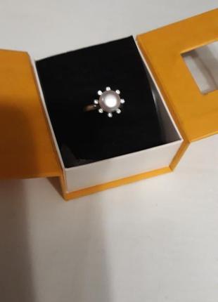 Классика кольцо с  жемчугом серебро 925