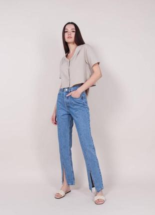 Трендовые джинсы с разрезами для низкого и среднего роста petite