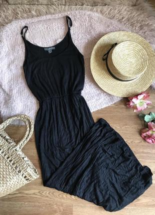 Длинное чёрное платье (s)