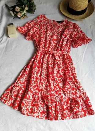Сукня в квіточку, сарафанчик new look, під пояс.