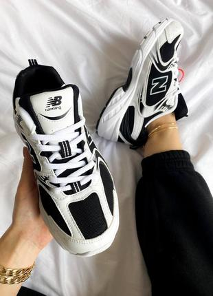 "New balance 530 ""black/white5 фото"