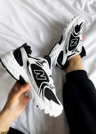 "New balance 530 ""black/white6 фото"