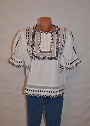 """Блуза с вышивкой и объемными рукавами """"topshop"""""""