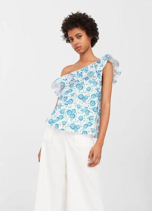 Блуза с цветами