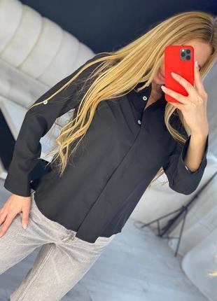 Женская рубашка черная 42 44 46 48
