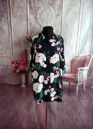 Воздушная блузка рубашка вискоза