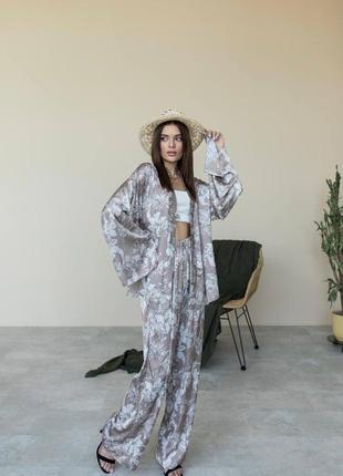 Брючный костюм «кимано» подчеркнёт вашу женственность и сделает ваш день или вечер - красивым!