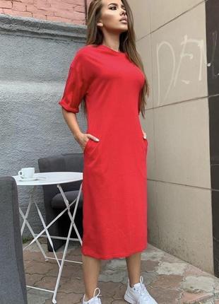 Платье 🌹 с карманами4 фото