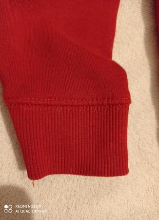 Утепляемся!  красная хлопковая кофта с начесом tu4 фото
