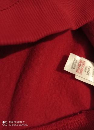 Утепляемся!  красная хлопковая кофта с начесом tu5 фото