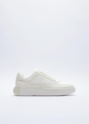 Мягкие белые кроссовки кеды zara в наличии есть размеры