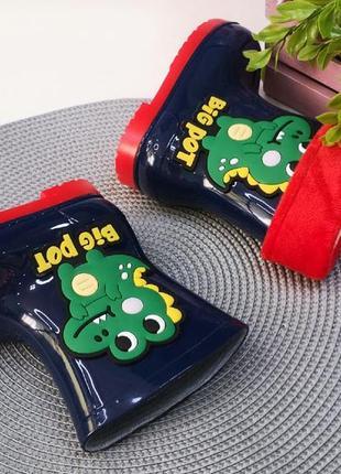 Детские резиновые сапоги для мальчика