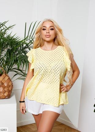 Жёлтая блуза прошва