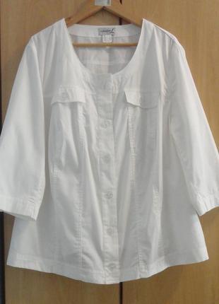 Супер белый брендовый пиджак жакет хлопок германия