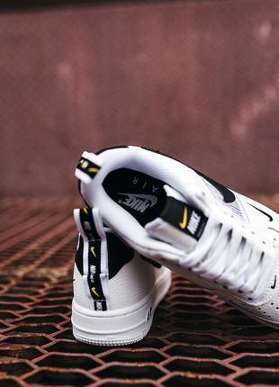 Кроссовки найк женские форсы аир форс кеды обувь nike air force black white6 фото