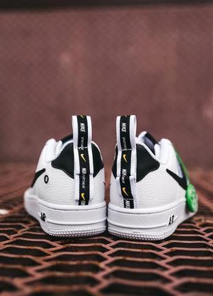 Кроссовки найк женские форсы аир форс кеды обувь nike air force black white9 фото