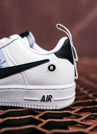 Кроссовки найк женские форсы аир форс кеды обувь nike air force black white7 фото
